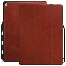 KHOMO iPad Pro 12.9 Inch Case with Pen Holder - DUAL Brown PU Leather Super S...