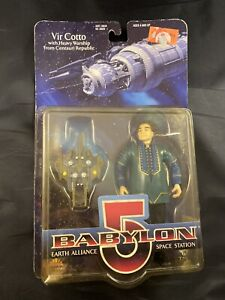 Vintage Babylon 5 Vir Cotto With Heavy Warship Blue Suit 90s 1997 Action Figure