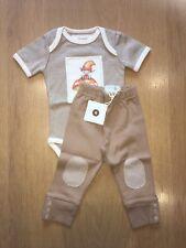 Baby Boy's Vest And Trousers Set - Brand New - 100% Organic Cotton - Newborn
