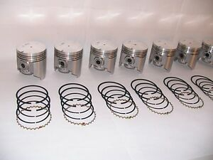 Pistons with Rings 1955 Pontiac 287 Hydra-Matic 8 to 1 compression 287 ci V8