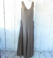 New AnyBody Jumpsuit S Small Tall Smoky Taupe Brown Cozy Knit Wide-Leg QVC