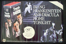 DRACULA FRANKENSTEIN Universal Monsters movie poster original  home video collec