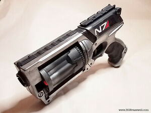 Silver and Black Mass Effect Inspired Modified N7 Nerf Maverick