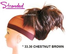 LARGE STYLED CLAMP HAIR PIECE EXTENSION CLAW CLIP IN UPDO CHESTNUT BROWN *33.30