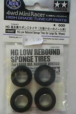 TAMIYA ACCESSORI MINI 4WD RACER GOMME NERO HG LOW REBOUN SPONGE TIRES ART 15507