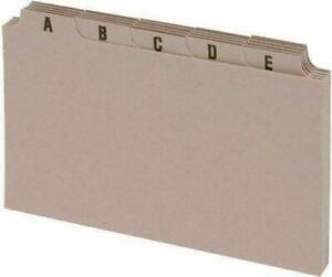 """A-Z Tab Guide Cards Set 5x3"""" 127x76mm Buff Index Box Dividers Flash record card"""