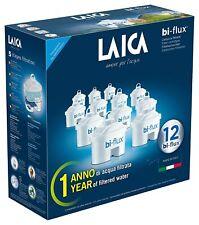 Laica bi-flux Confezione da 12 Cartucce Filtranti per il Trattamento dell'Acqua - Bianco (F12M)