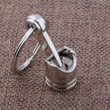 Engine Car Auto Part Silver Metal Piston Model Alloy Keychain Keyring Keyfob New