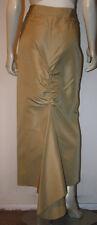 MAG Magaschoni Champagne Silk Long Skirt 6 8 Back Bustle Drop Hem NWOT