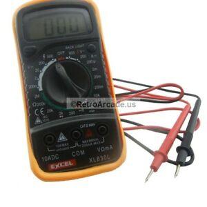 Digital Voltmeter Ohmmeter Ammeter Multimeter OHM DC AC Voltage Current Tester +
