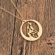 Howling Wolf Round Pendant Necklace Cool Fashion Jewelry Adjustable With Chain