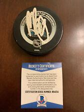 Paul Kariya Signed Logo Puck Anaheim Ducks Beckett BAS COA Autographed Auto