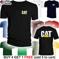 Caterpillar T-Shirt CAT Logo Tractor Equipment Men Bulldozer Construction FR