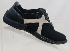 Born Black Suede Leather Shoes Lace Up Oxfords Womens 6.5 37 M/W EUR W3943 G3