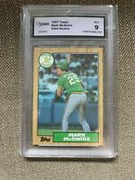 1987 TOPPS Oakland Athletics  MARK MCGWIRE ROOKIE GRADED MINT 9. Investment!!!