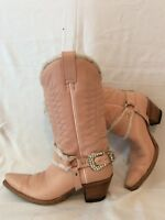 SENDRA Pink Mid Calf Leather Cowboy Boots Size 6