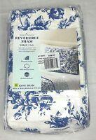 Home Classics Reversible King Sham Blue White Shara