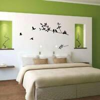 Tree Branch Bird House Wall Sticker Kids Bedroom Stickers Home Decal Decor SW