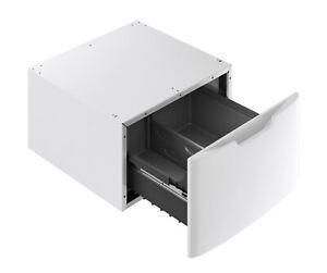 "GE GFP1528PNDG 27"" White Laundry Pedestal w/Drawer NIB"
