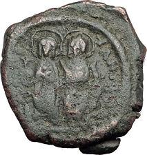 JUSTIN II &  Sophia 565AD Half Follis Thessalonica Ancient Byzantine Coin i62737