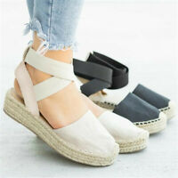 Women's Summer Casual Strappy Thick-Bottom Sandals Platform Closed Toe Shoes