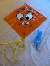 "Vintage North Pacific Glite ""Bug Off"" Orange Plastic Kite #5330"