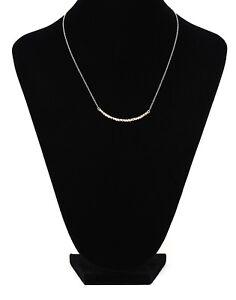 Argento Vivo Curved Bar Pendant Necklace Gold Women 1321