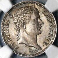 1807-A NGC AU 55 France Napoleon 1 Franc Rare Paris Silver Coin (19112701R)