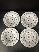 Set of 4 Finlandia Churchill Rimmed Soup Bowls Staffordshire England  8 11/16""