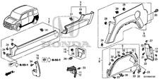 Genuine Honda Clip Side Sill Garnish (Upper) 91513-SM4-000