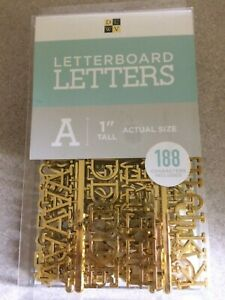"""DCWV New Letterboard Letters 1"""" Tall Gold Letters 188 Count."""