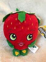 "Brand New 7"" Shopkins Strawberry Kiss Plush Stuffed Toy NWT Licensed Kids"