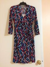 NWT Anne Klein Printed Faux-Wrap Sheath Dress, Size 6