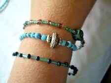 Bead Bracelets x 3  elasticated & clasp type.
