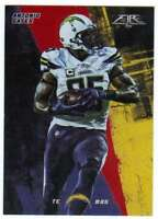 2015 Topps Fire Football Flame Foil Parallel #9 Antonio Gates Chargers
