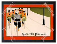 Historic Continental Tyres Advertising Postcard 2