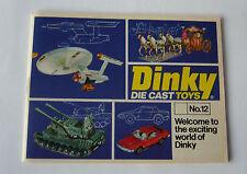 Dinky - Die Cast Toys -No. 12  1976  - Katalog  DIN A 6
