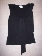 Womens Black IZ Byer California no sleeve shirt top blouse size M RN31310