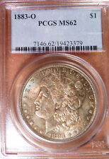 1883-O Morgan Dollar graded PCGS 62, Very Attractive Blues, Russets & Golds