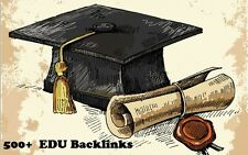 500 EDU Backlinks for your Website . PROFESSIONALLY DONE ! SPECIAL PRICE !