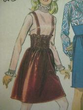 Vintage McCalls Midriff Smocked Smocking Skirt Women Sz 14 Sewing Pattern