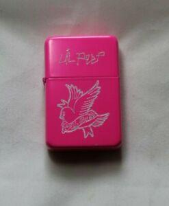 LIL PEEP LIGHTER pink finish rap music Cry Baby bird logo