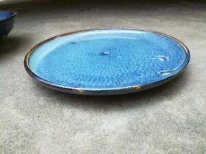 6 Teller Blau 25cm Speisenteller Teller Vorspeisenteller Porzellan Neu