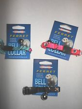 Marshall Rhinestone Ferret Small Dog Bell Collar - 3 pack/1 black,1 teal,1 pink