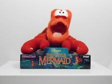"1991 Tyco The Little Mermaid 10"" Sebastian the Crab Plush New on Package"