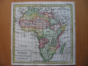 1750 - VAUGONDY - Small handcolored map  AFRICA