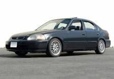 WellVisors For 96-00 Honda Civic 4Dr Premium Series Side Window Visors Deflector