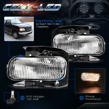 for Ford F-150 F-250 Expedition XLT XL Pickup Front Bumper Clear Fog Light Pair