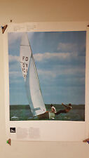VINTAGE 1976 MONTREAL OFFICIAL COJO OLYMPICS POSTER ROWING & YACHTING