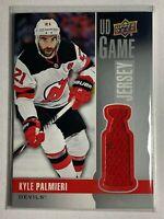 2019-20 Kyle Palmieri UD Upper Deck Game Jersey Card NJ Devils #GJ-KP